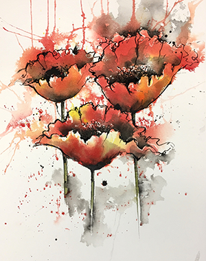 Poppies by Joanne Boon Thomas